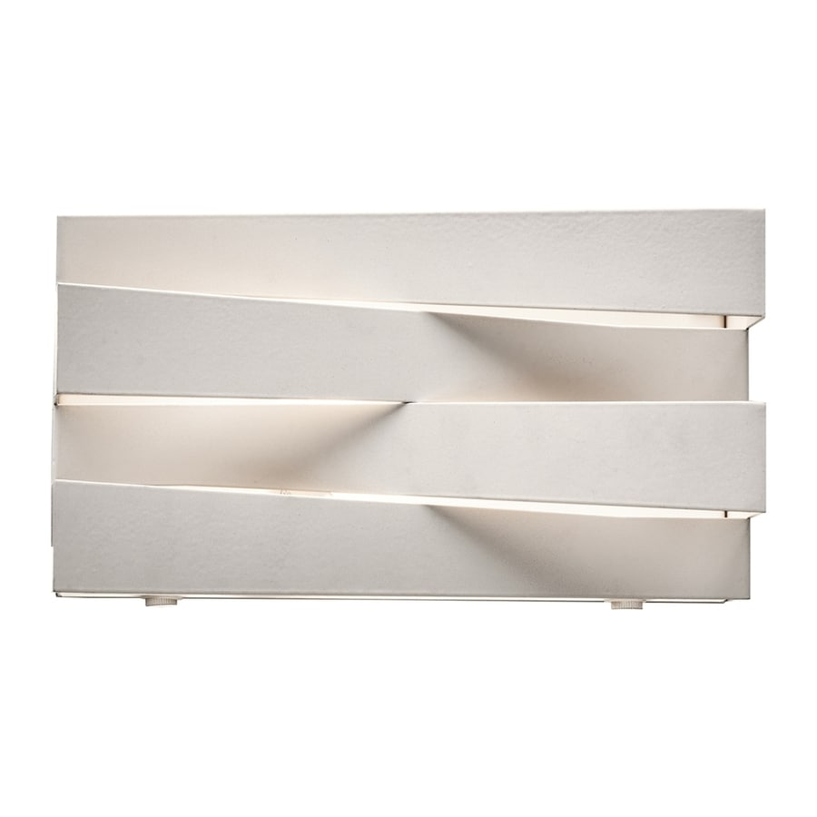 Elan Massimik 10.25-in W 1-Light White Directional Wall Sconce