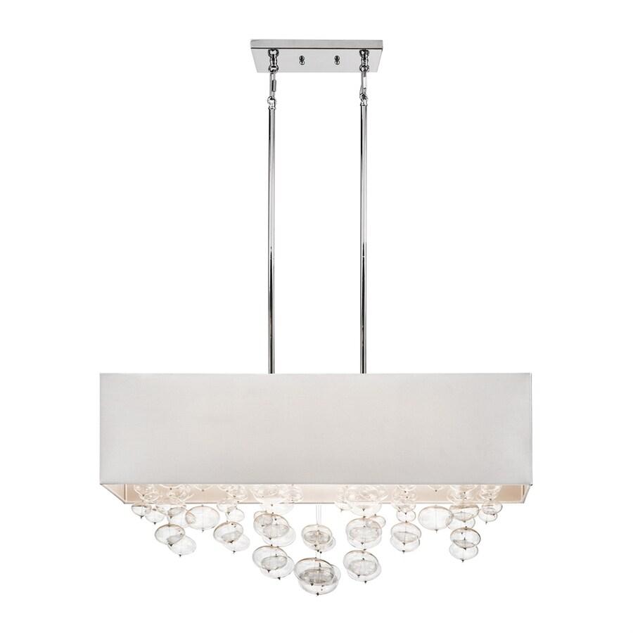 Elan Piatt 11-in W 6-Light Chrome Kitchen Island Light with Fabric Shade