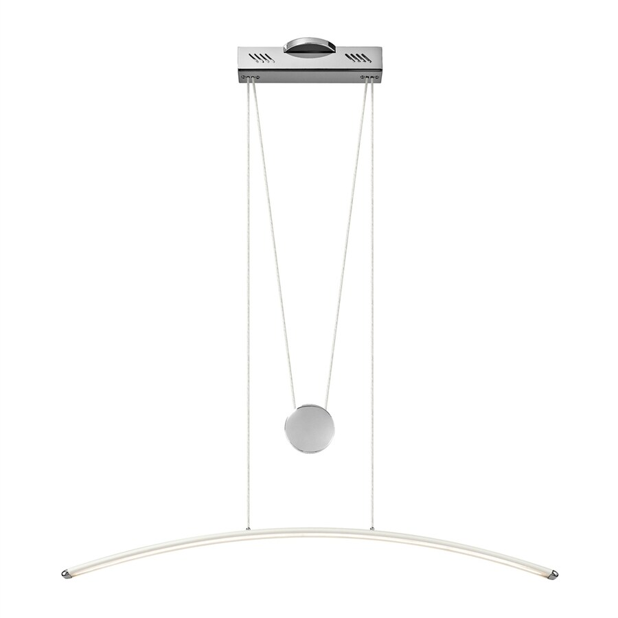 Elan Sava 4.75-in W 1-Light Chrome/White Integrated LED Kitchen Island Light with White Shade