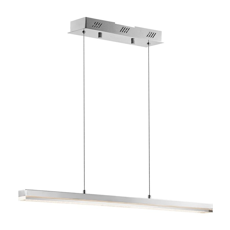 Elan Gorva 2-in W 1-Light Chrome Integrated LED Kitchen Island Light with Clear Shade