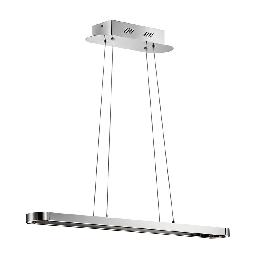 Elan Quell 3.75-in W 1-Light Chrome Integrated LED Kitchen Island Light with Shade