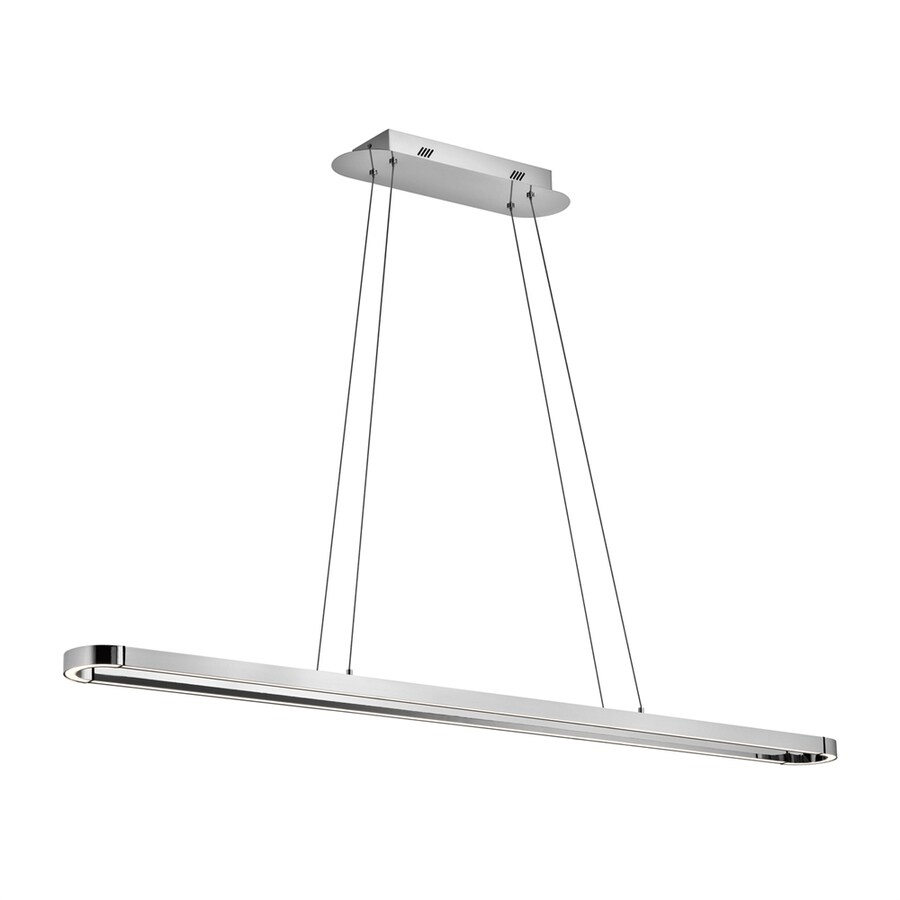 Elan Quell 4.75-in W 1-Light Chrome Integrated LED Kitchen Island Light with Shade