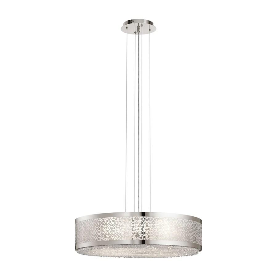Elan Massimo 23.82-in Polished Nickel Hardwired Single Drum Pendant