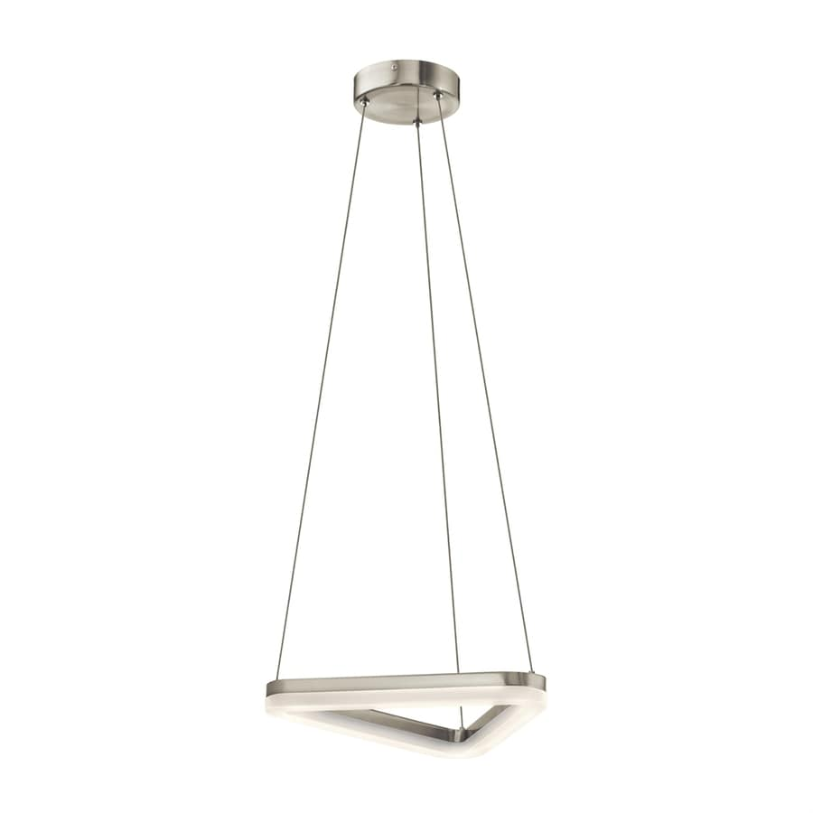Elan Paiva 14.25-in Brushed Nickel Hardwired Single Geometric Pendant