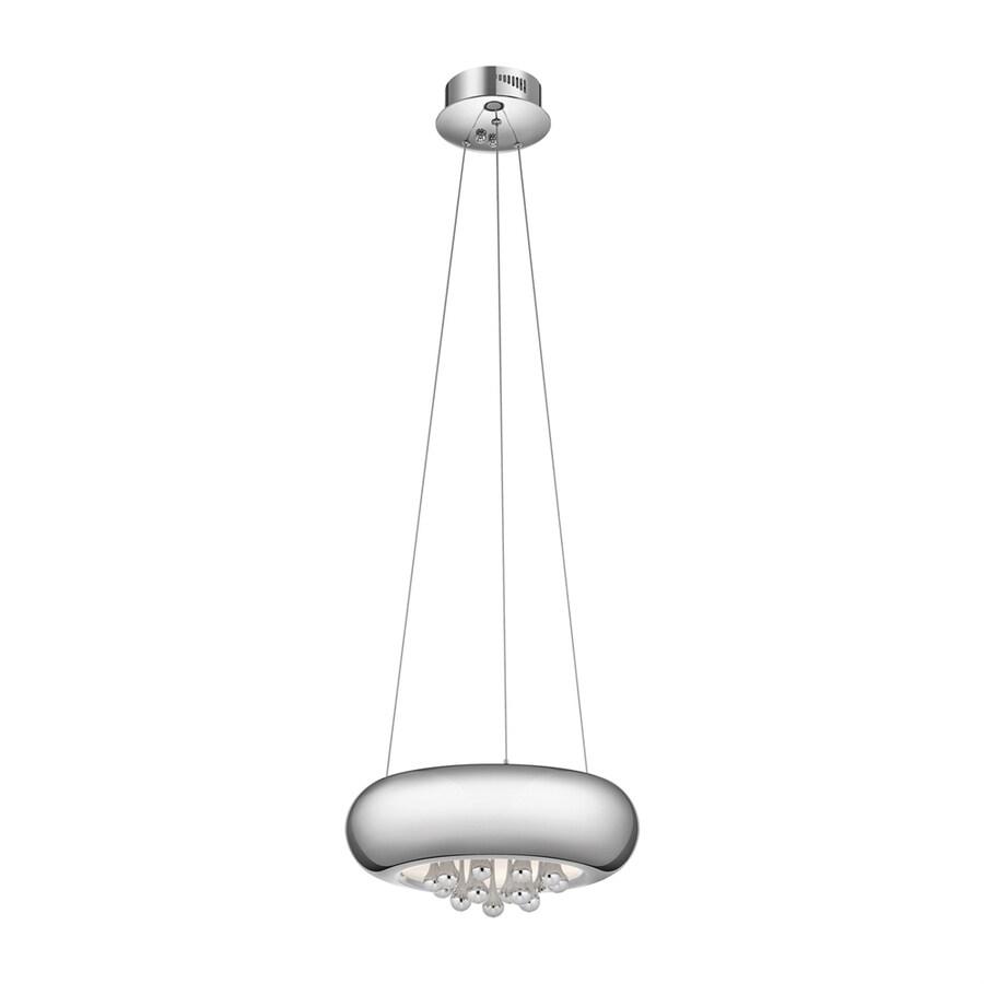 Elan Lavelle 14.57-in Chrome Hardwired Single Drum Pendant