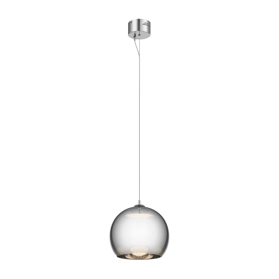 Elan Rendo 11.81-in Chrome Hardwired Single Tinted Glass Orb Pendant