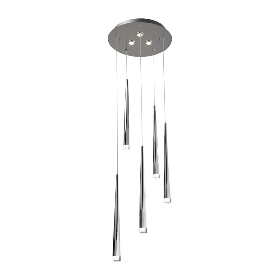 Elan Antonia 13.23-in Chrome Hardwired Multi-Light Cone Pendant