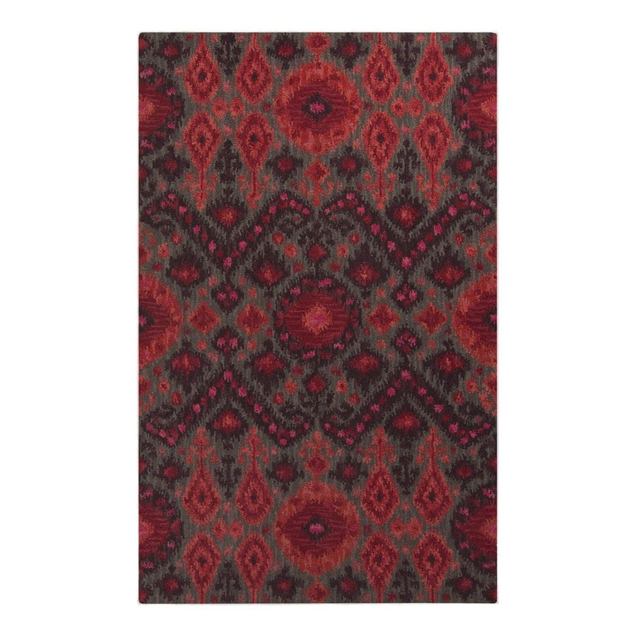 Surya Centennial Charcoal Rectangular Indoor Hand-Hooked Area Rug (Common: 5 x 8; Actual: 60-in W x 96-in L)