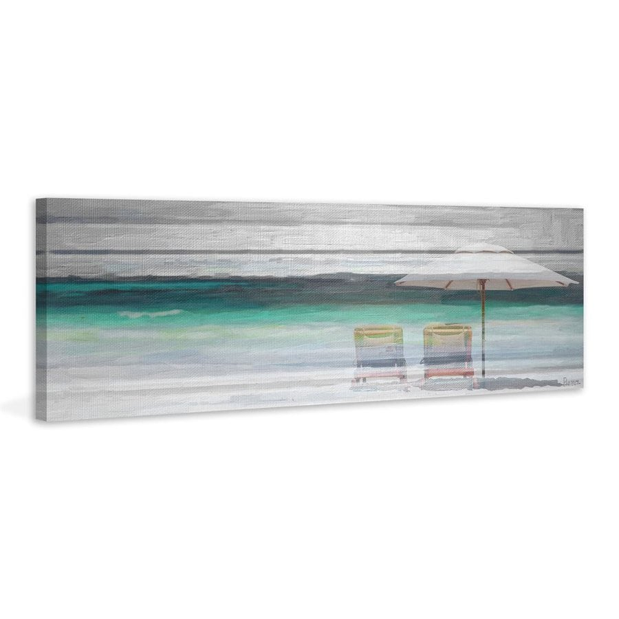 Parvez Taj 45-in W x 15-in H Frameless Canvas By The Beach Print Wall Art