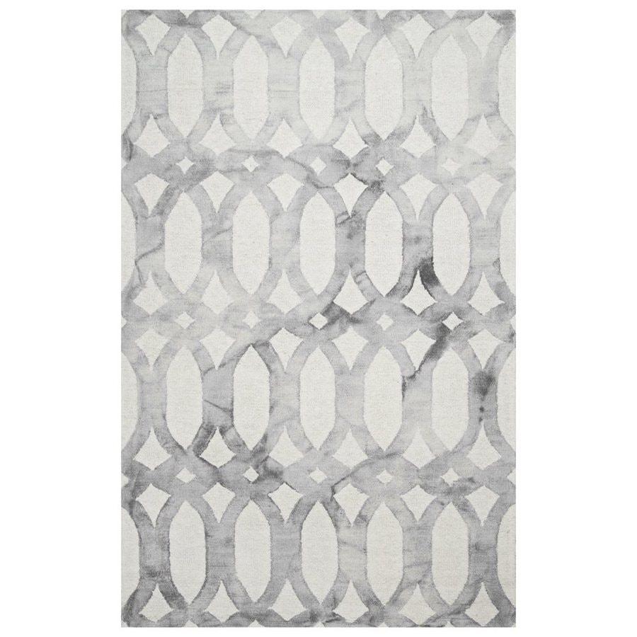 nuLOOM Nellie Light Grey Rectangular Indoor Area Rug (Common: 5 x 8; Actual: 60-in W x 96-in L)