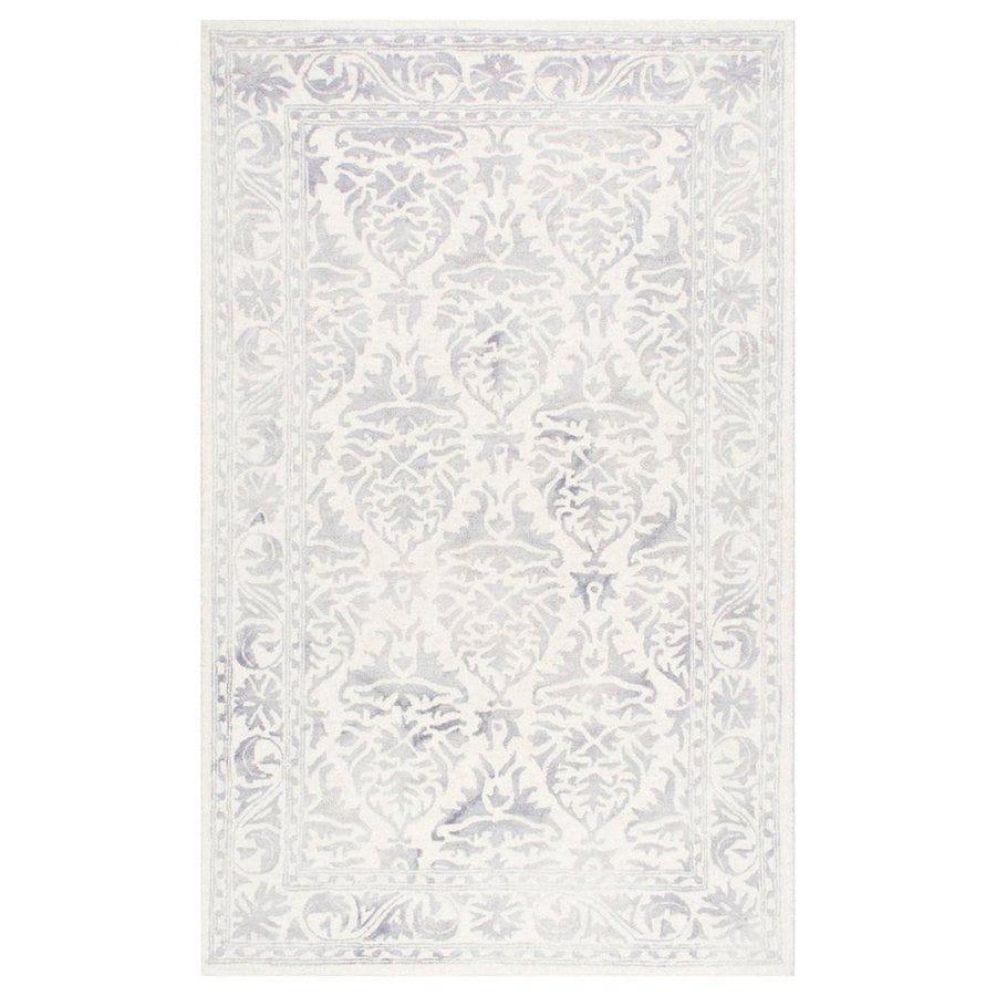 nuLOOM Krause Light Grey Rectangular Indoor Area Rug (Common: 5 x 8; Actual: 60-in W x 96-in L)