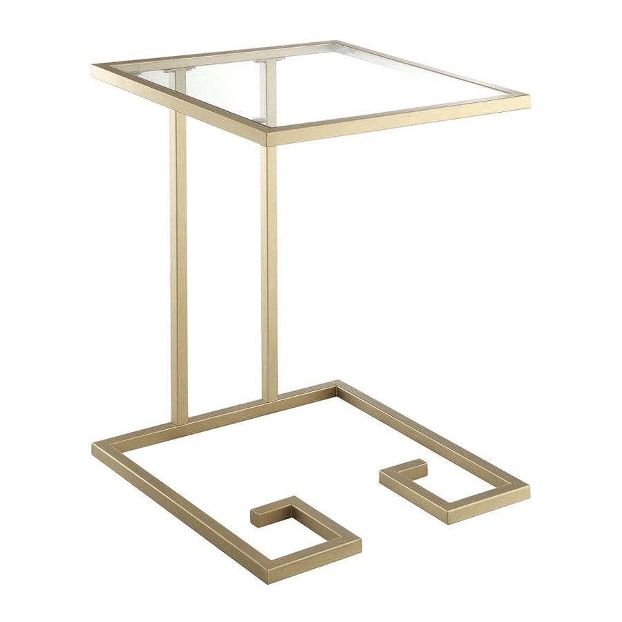 CAROLINA COTTAGE Royce Gold Metal Square End Table