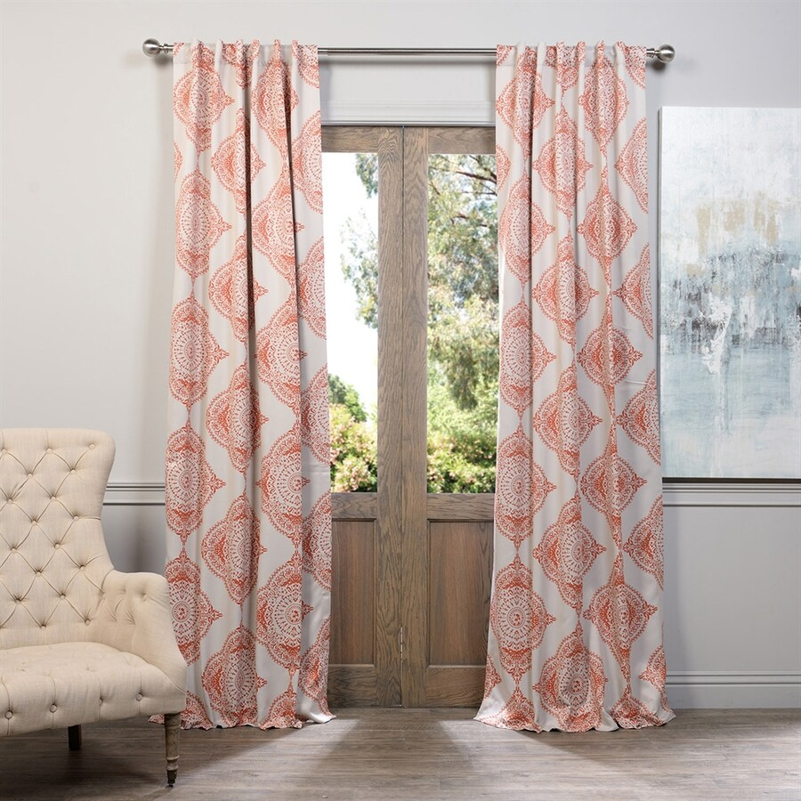 Exclusive Fabrics & Furnishing Henna 96-in Polyester Rod Pocket Blackout Single Curtain Panel