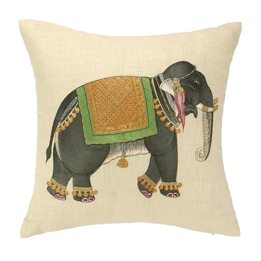 Peking Handicraft 16-in W x 16-in L Square Indoor Decorative Pillow