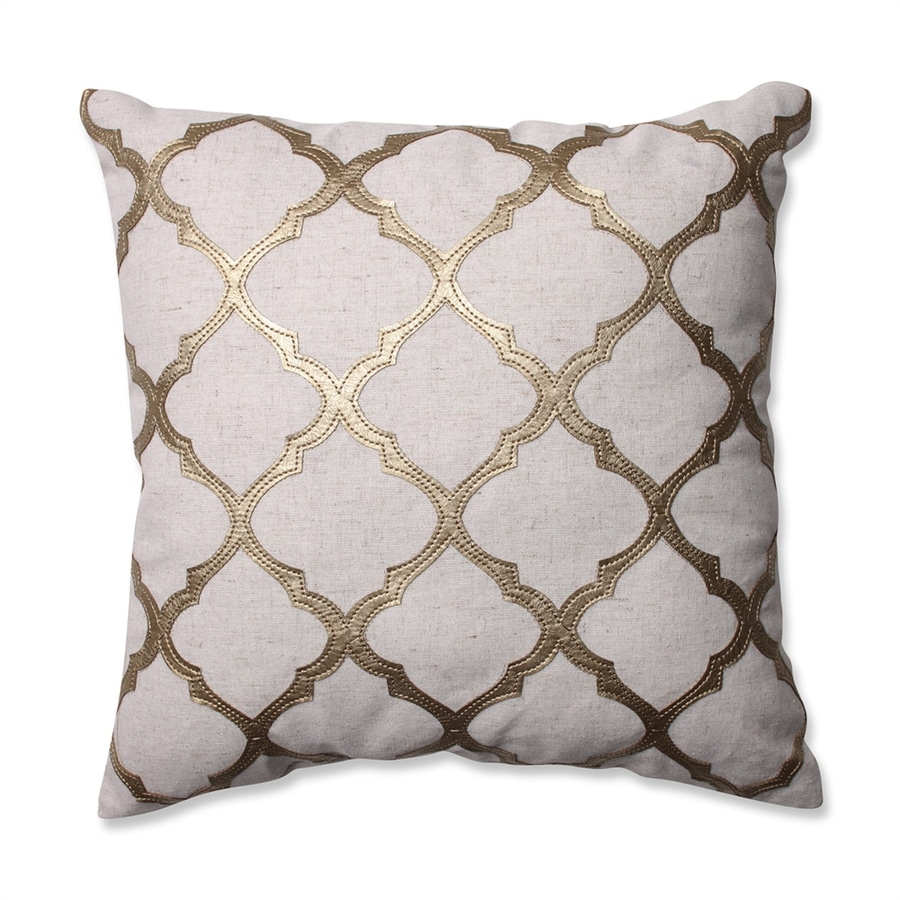 Pillow Perfect 16.5-in W x 16.5-in L Gold Square Indoor Decorative Pillow