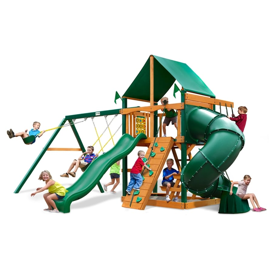 Gorilla Playsets Mountaineer Residential Wood Playset with Swings