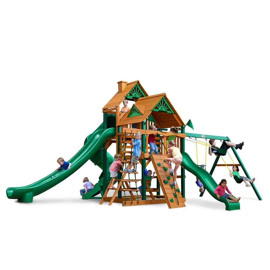 Gorilla Playsets Great Sky II Residential Wood Playset with Swings
