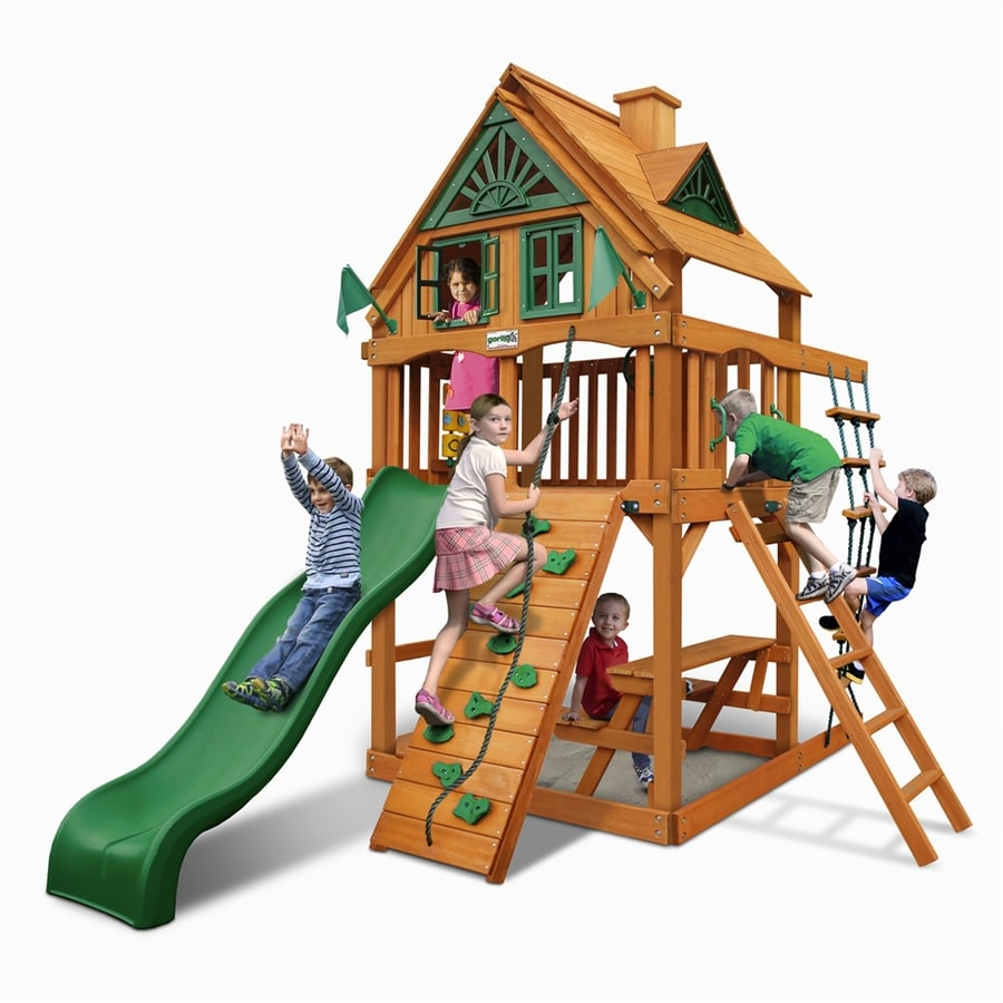 Gorilla Playsets Chateau Tower Treehouse Residential Wood Playset