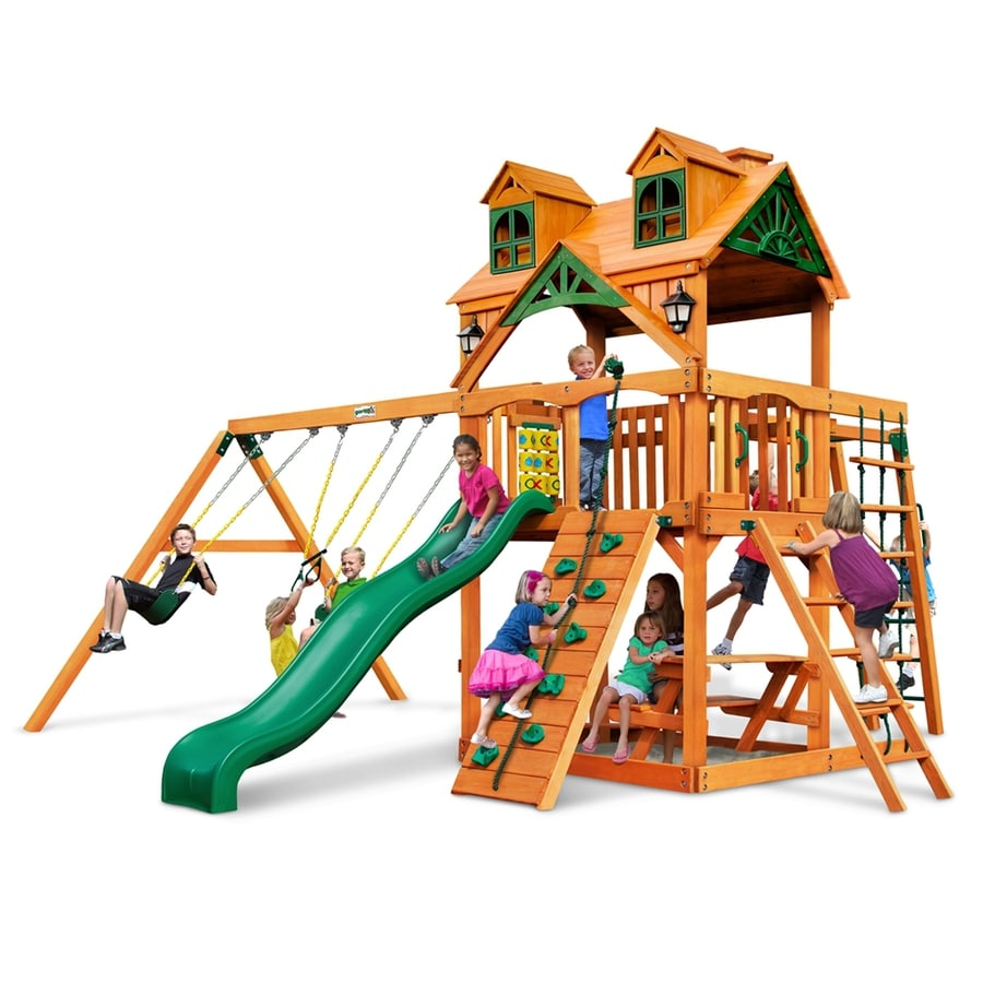 Gorilla Playsets Malibu Navigator Residential Wood Playset with Swings