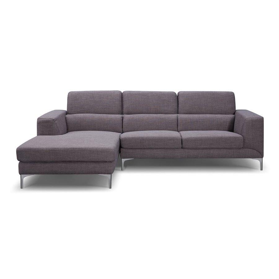 Whiteline Imports Sydney 2-Piece Grey Synthetic Sectional Sofa