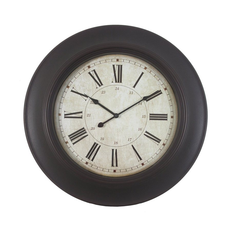 Decor Therapy Roman Analog Round Indoor Wall Clock