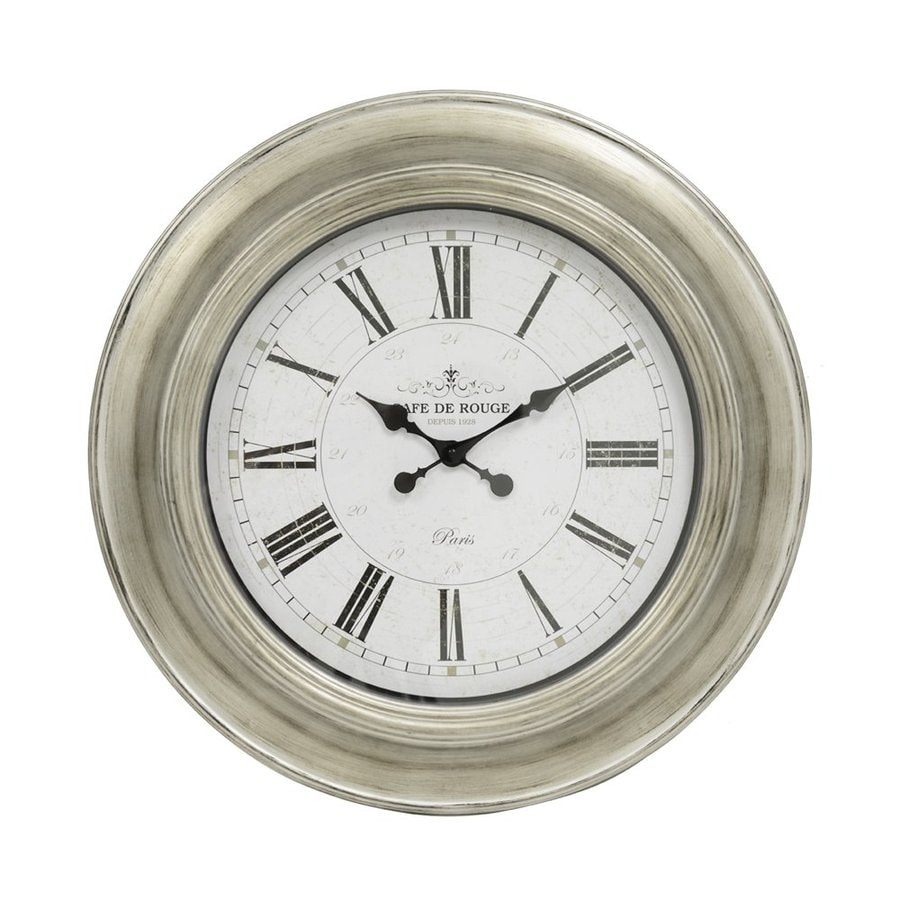 Decor Therapy Cafe De Rouge Analog Round Indoor Wall Clock