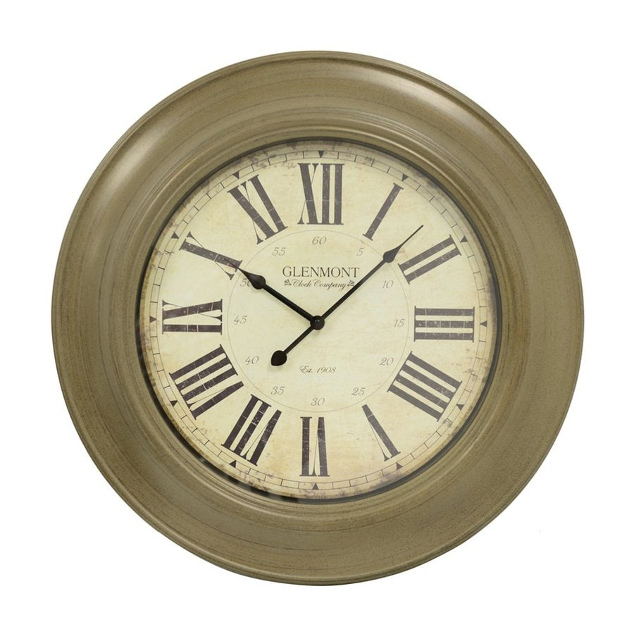 Decor Therapy Classic Glenmont Analog Round Indoor Wall Clock
