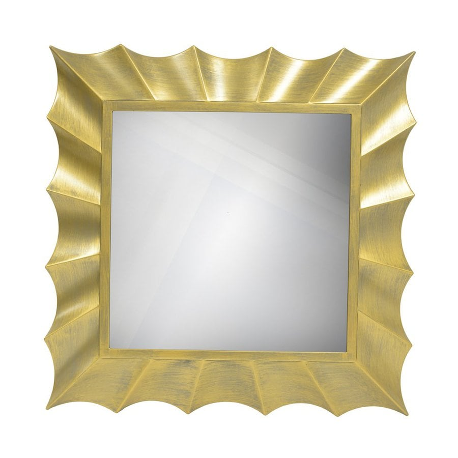 Decor Therapy 30-in W x 30-in H Gold Square Framed Transitional Wall Mirror