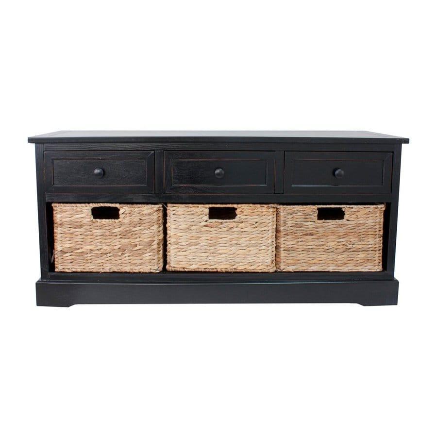 Decor Therapy Montgomery Black Indoor Storage Bench