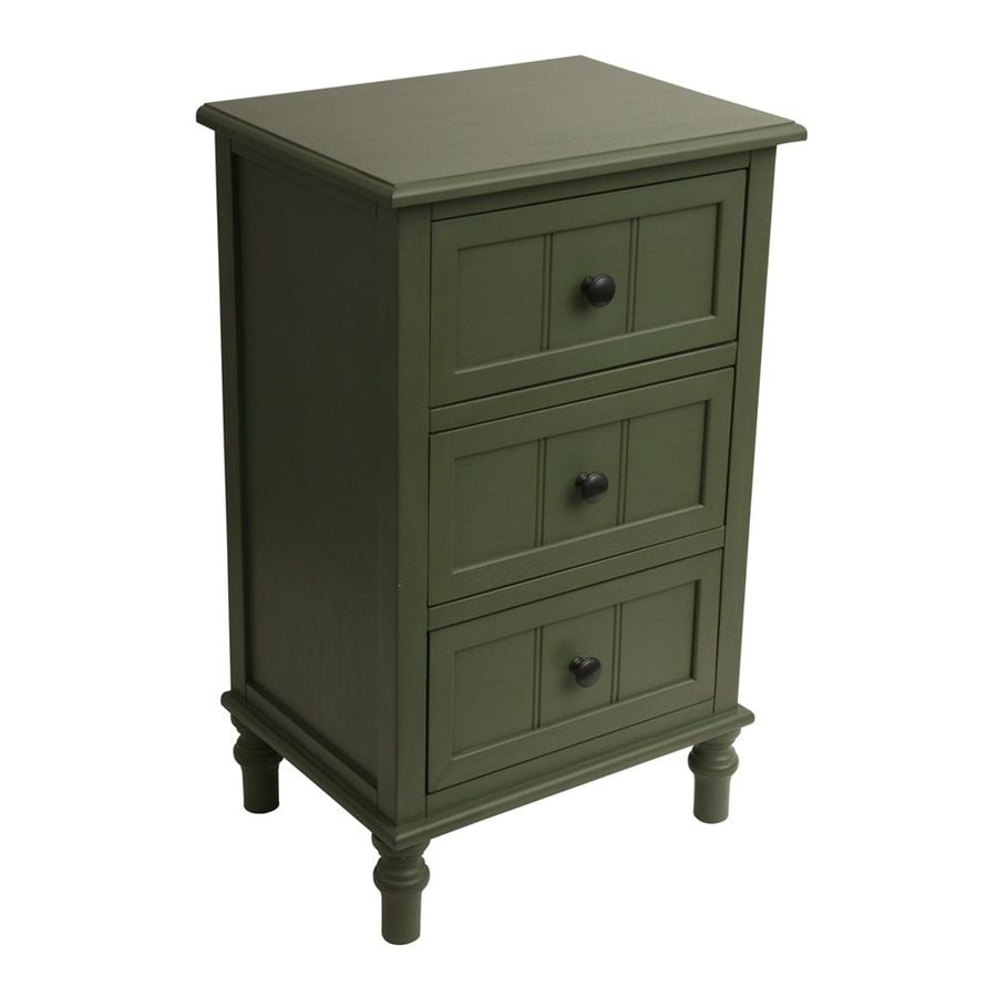 Decor Therapy Antique Teal Composite Rectangular End Table