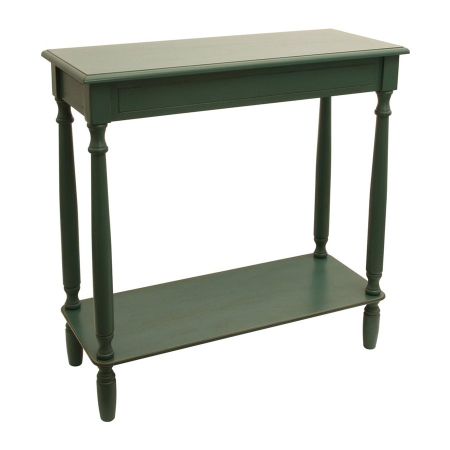Decor Therapy Antique Teal Composite Rectangular Console and Sofa Table
