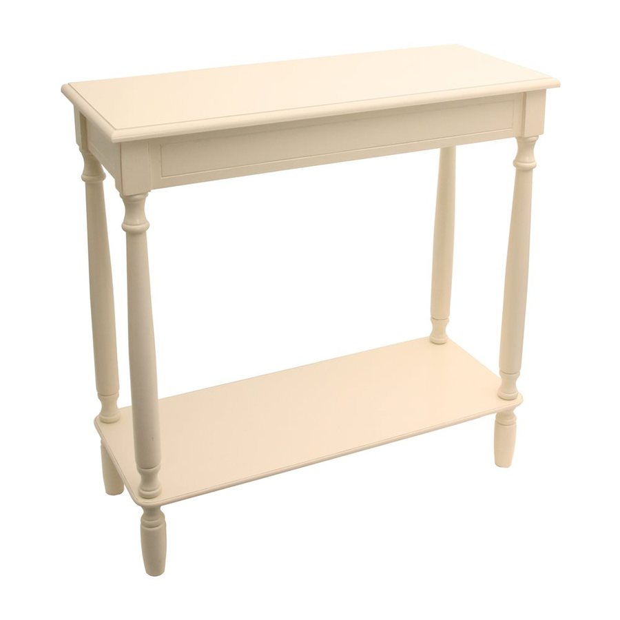 Decor Therapy Antique White Composite Rectangular Console and Sofa Table