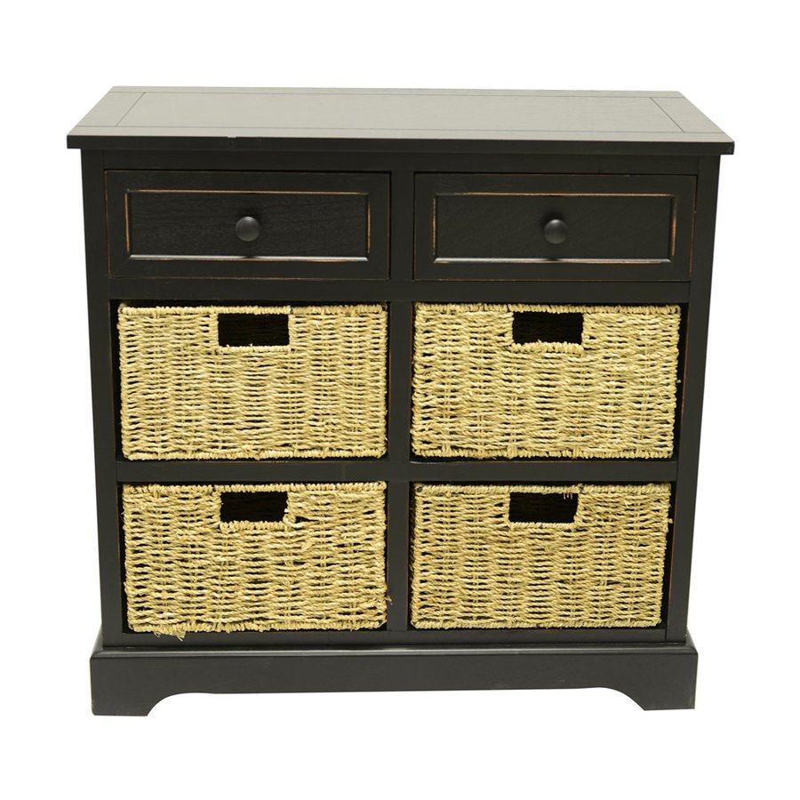 Decor Therapy Montgomery Eased Edge Black Rectangular Sideboard