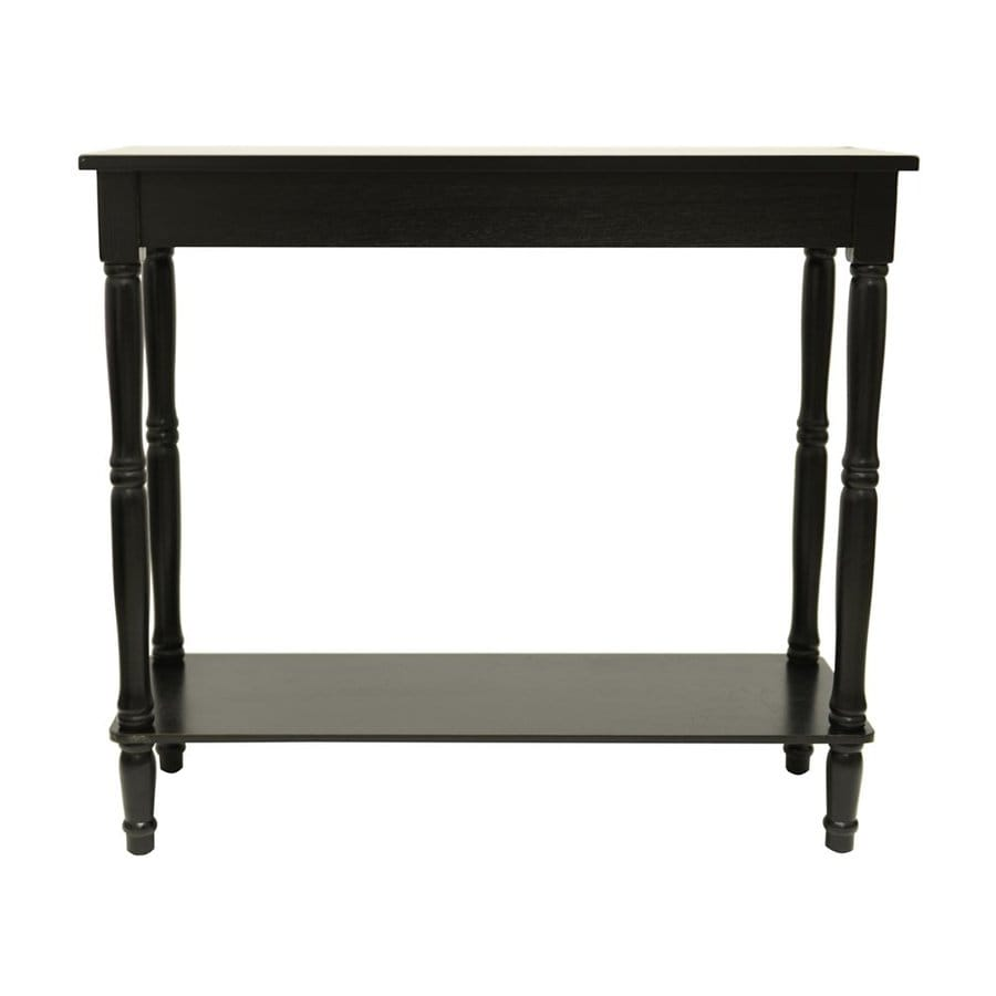 Decor Therapy Eased Edge Black Composite Rectangular Console and Sofa Table