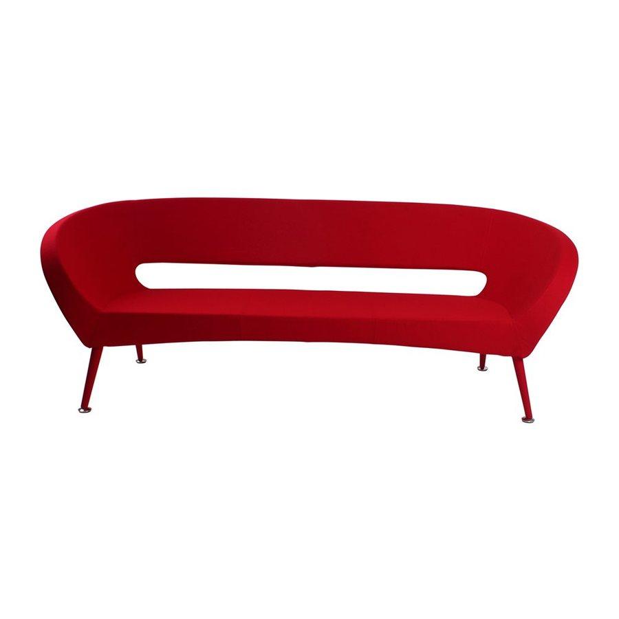 J&M Furniture Tiffany Red Wool Stationary Sofa