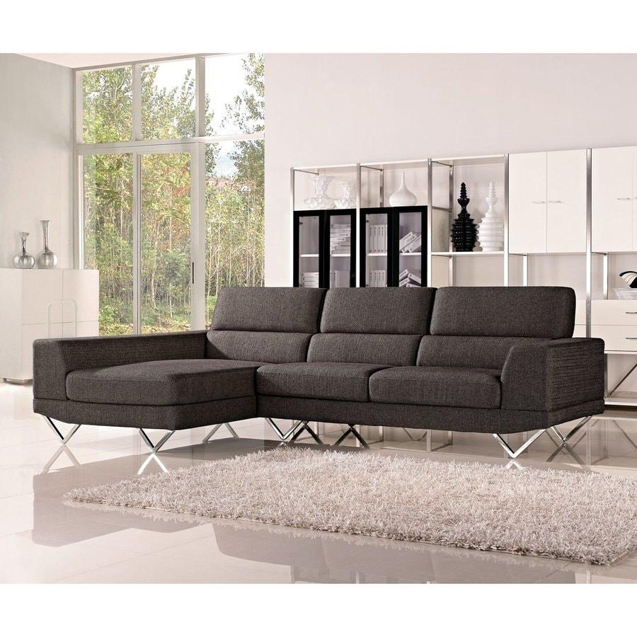 DG Casa Morgan 2-Piece Charcoal Sectional Sofa