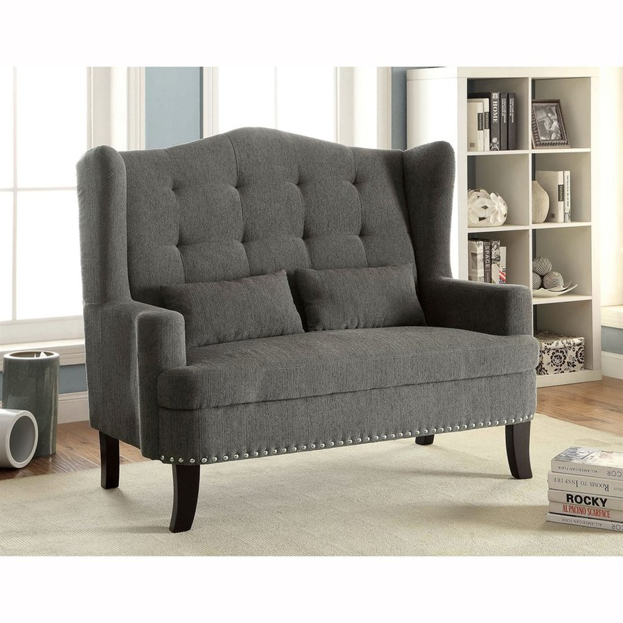 Furniture of America Setubal Gray Stationary Loveseat