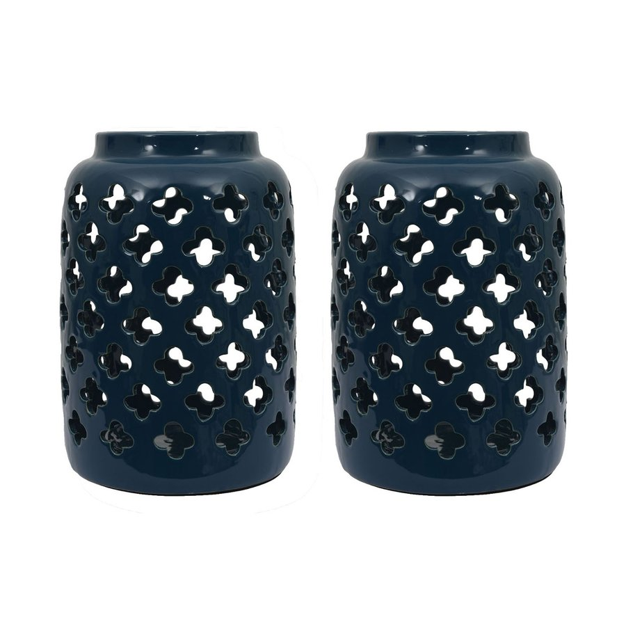 Decor Therapy 2 Candle Ceramic Lantern Candle Holder