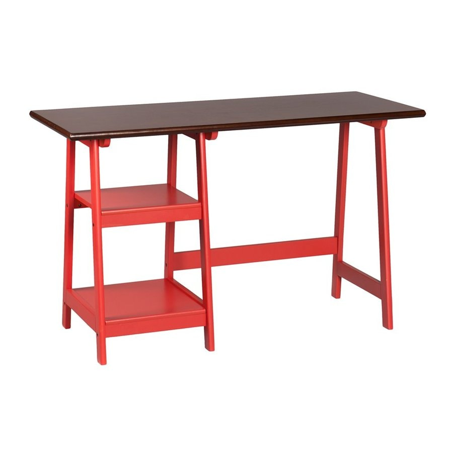 Boston Loft Furnishings Tatiana Red/Espresso Computer Desk
