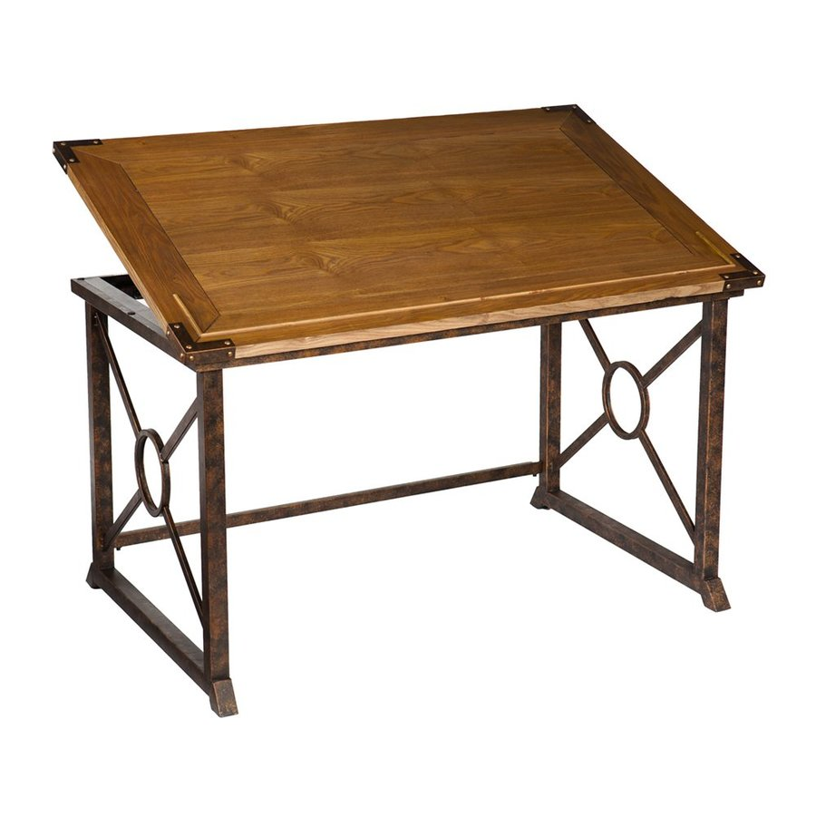Boston Loft Furnishings Roland Weathered Oak Writing Desk