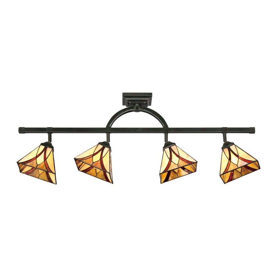 Quoizel Asheville 4-Light 43.5-in Valiant Bronze Dimmable Fixed Track Light Kit