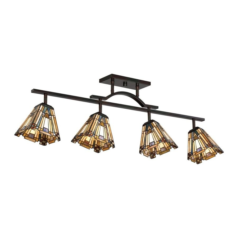 Quoizel Inglenook 4-Light 42-in Valiant Bronze Dimmable Fixed Track Light Kit
