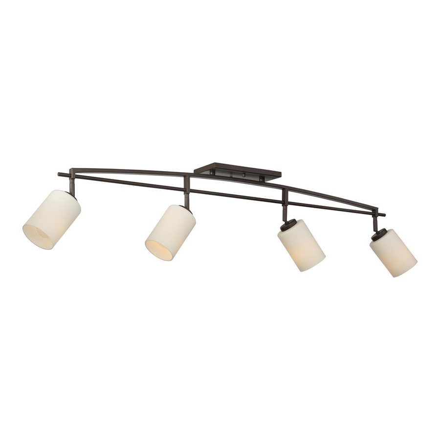 Quoizel Taylor 4-Light 43.75-in Western Bronze Dimmable Fixed Track Light Kit