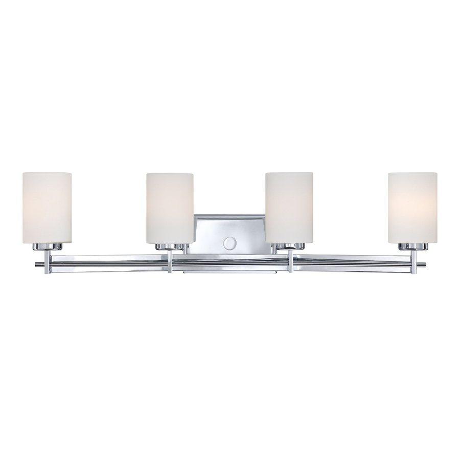 Quoizel Taylor 4-Light Polished Chrome Cylinder Vanity Light Bar