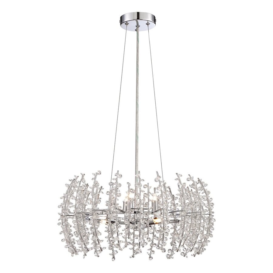 Quoizel Valla 20-in Polished Chrome Crystal Drum Pendant