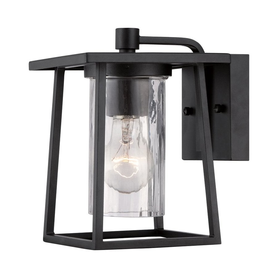 Quoizel Lodge 9-in H Mystic Black Outdoor Wall Light