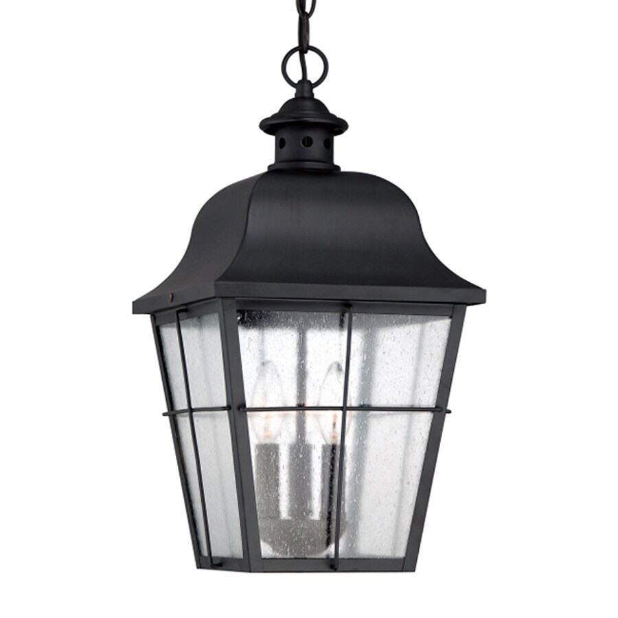 Quoizel Millhouse 19-in Mystic Black Outdoor Pendant Light