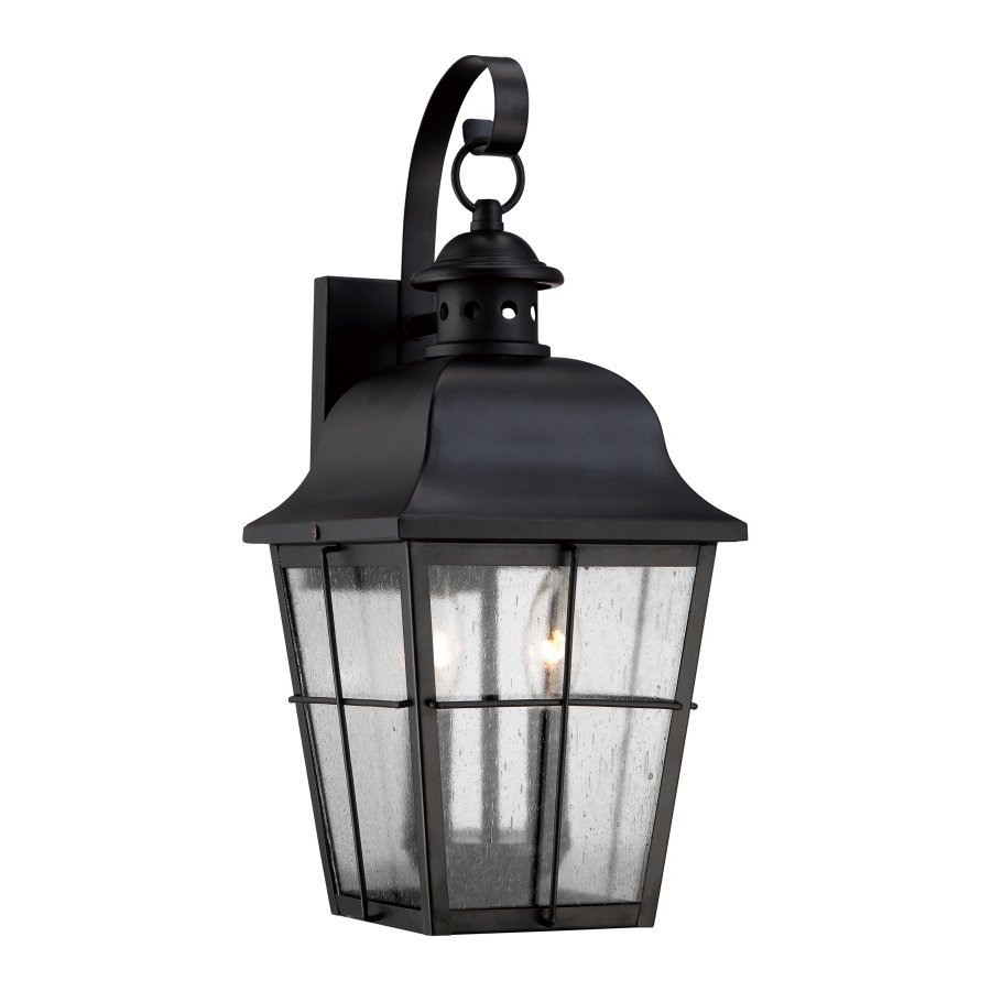 Quoizel Millhouse 18.5-in H Mystic Black Outdoor Wall Light