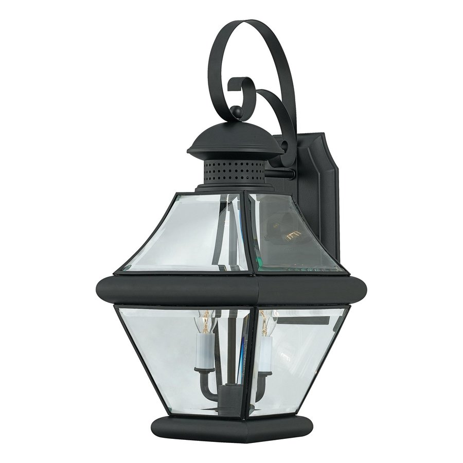 Quoizel Rutledge 19-in H Mystic Black Outdoor Wall Light
