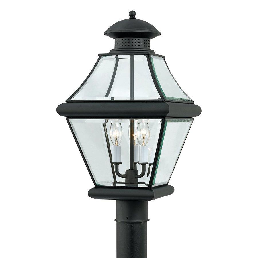Quoizel Rutledge 20.5-in H Mystic Black Post Light